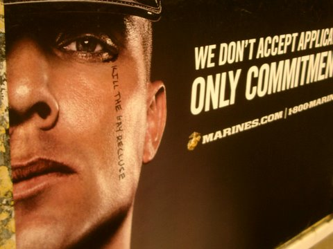 Marine Defaced